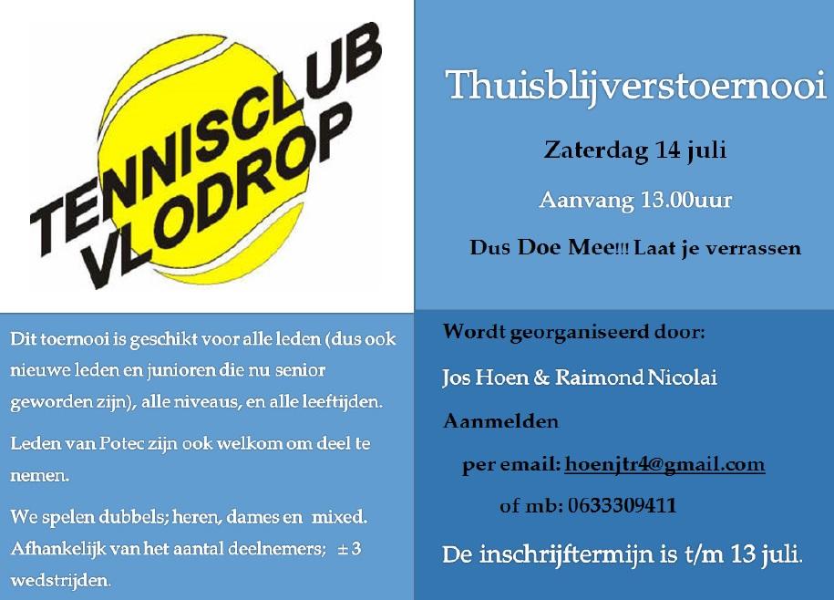 Uitnodiging 14 Juli Thuisblijverstoernooi TC Vlodrop Thuis10