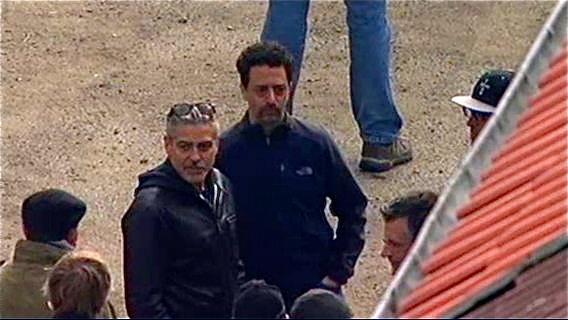Photos: George Clooney filming in Goslar, Germany Cloone10