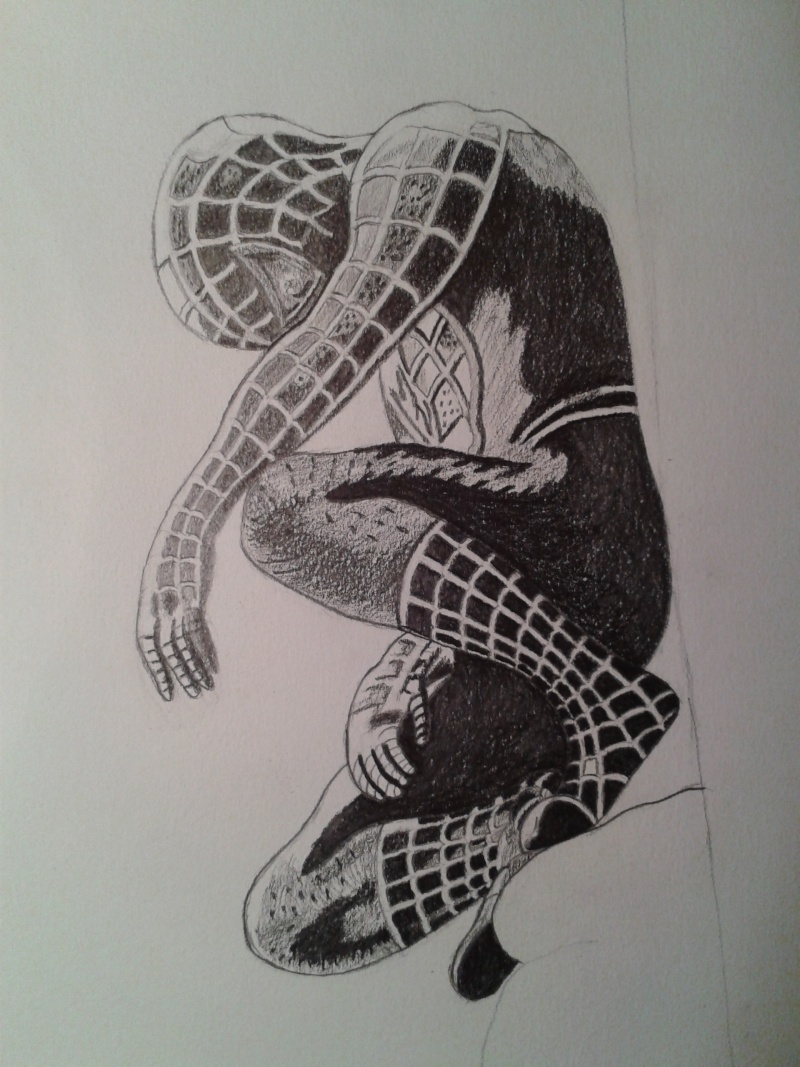 Dessin Spiderman Noir