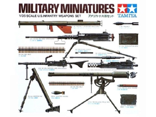 US infantry weapon set  210