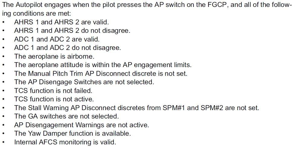 Autopilot sur q400 - il ne fonctionne pas Uc298g10