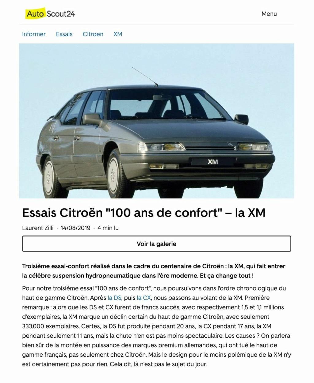 AutoScout 24 : essai Citroën XM Essais10