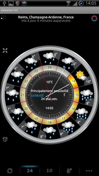 [SOFT] EWEATHER HD : météo complète,  heure par heure et à 10 jours [Payant] 00210