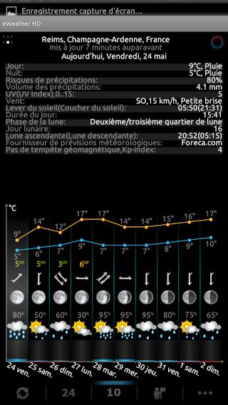 [SOFT] EWEATHER HD : météo complète,  heure par heure et à 10 jours [Payant] 00410