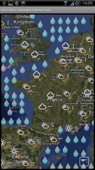 [SOFT] EWEATHER HD : météo complète,  heure par heure et à 10 jours [Payant] 00710