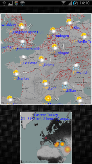 [SOFT] EWEATHER HD : météo complète,  heure par heure et à 10 jours [Payant] 01010