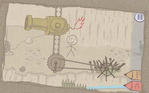[ANDROID - JEU : DRAW A STICKMAN] petit jeu d'aventure ou vous dessinez votre perso et ses accessoires [Démo/Payant] 1110