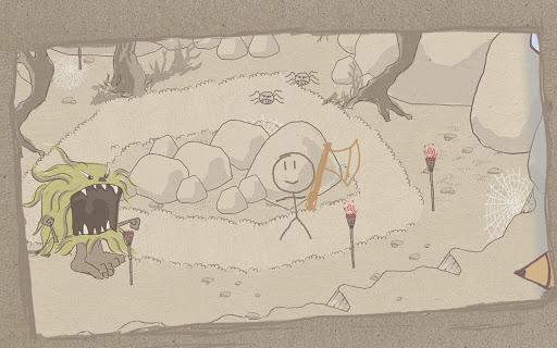 [ANDROID - JEU : DRAW A STICKMAN] petit jeu d'aventure ou vous dessinez votre perso et ses accessoires [Démo/Payant] 4410