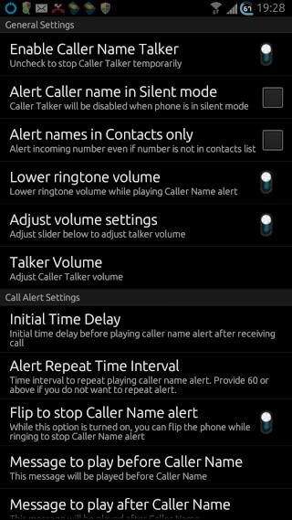 [SOFT] CALLER NAME TALKER : Annonce vocale de l'appelant et de l'expéditeur de SMS [Gratuit] Screen45