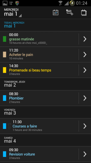 [APPLICATION ANDROID - DIGICAL CALENDRIER ET WIDGET] calendrier et widget[Gratuit/Payant] Vue_li10