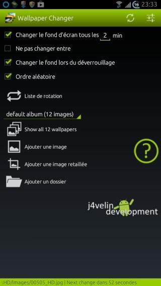[SOFT] WALLPAPER CHANGER : Changement automatique et manuel du fond d'écran [Gratuit] Wallpa10