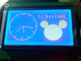 基于12864液晶的指针时钟 17125610