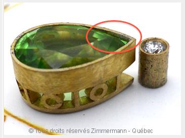 Pendentif or Péridot 3,45 cts Diamant 7/100 ct................. Captur10