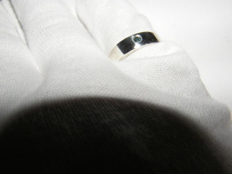 Jonc en argent avec diamant bleu  Dscf5014