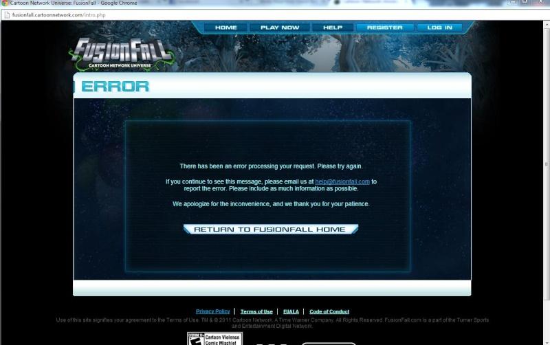 New FusionFall homepage! Vvvvv10