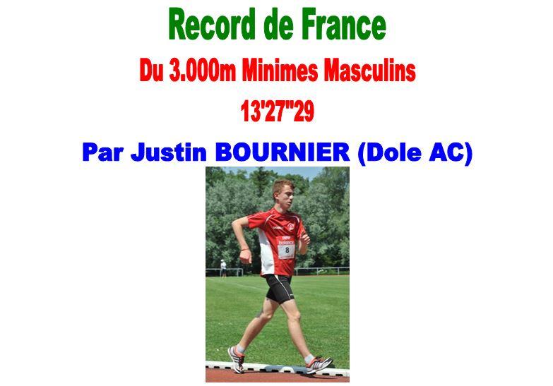 Justin BOURNIER Fiche Record de France du 3000m Minimes 1_bour13