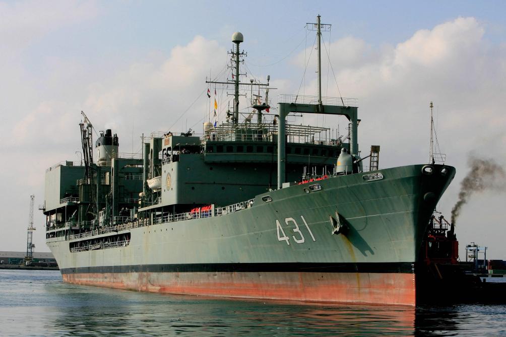 La marine iranienne annonce le naufrage d'un ravitailleur en B9727210