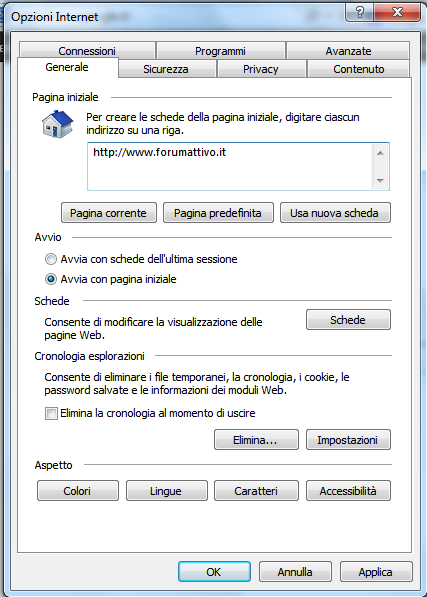 Come pulire la cache del browser 110
