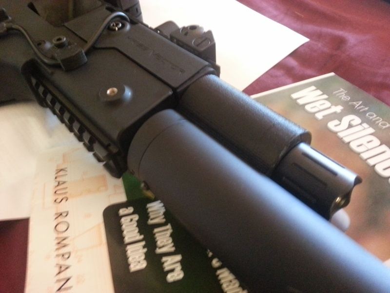 Prototype: Dual Mag Holder Grip - Cadet II Flashlight Adapter & Cable Hold Down Kriss-11