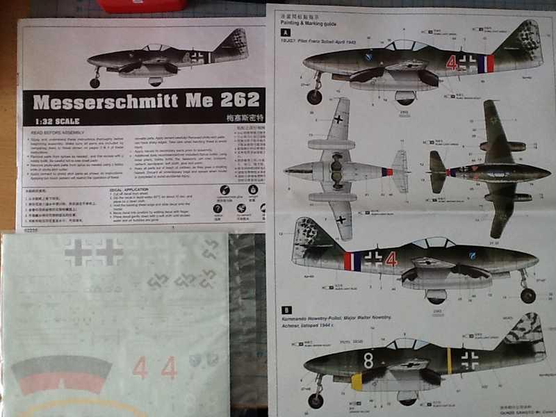 Messerschmitt Me 262 A-1a Trumpeter 1:32  K800_i12