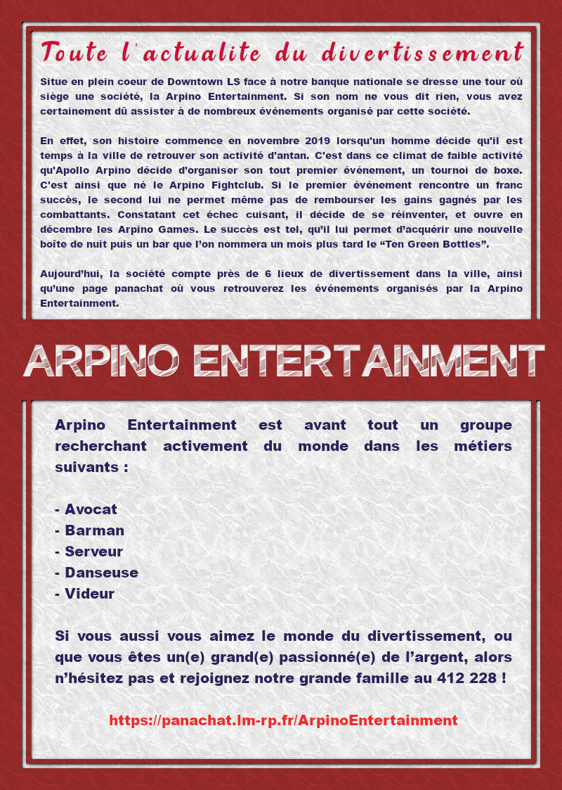 Arpino Entertainment Affich34
