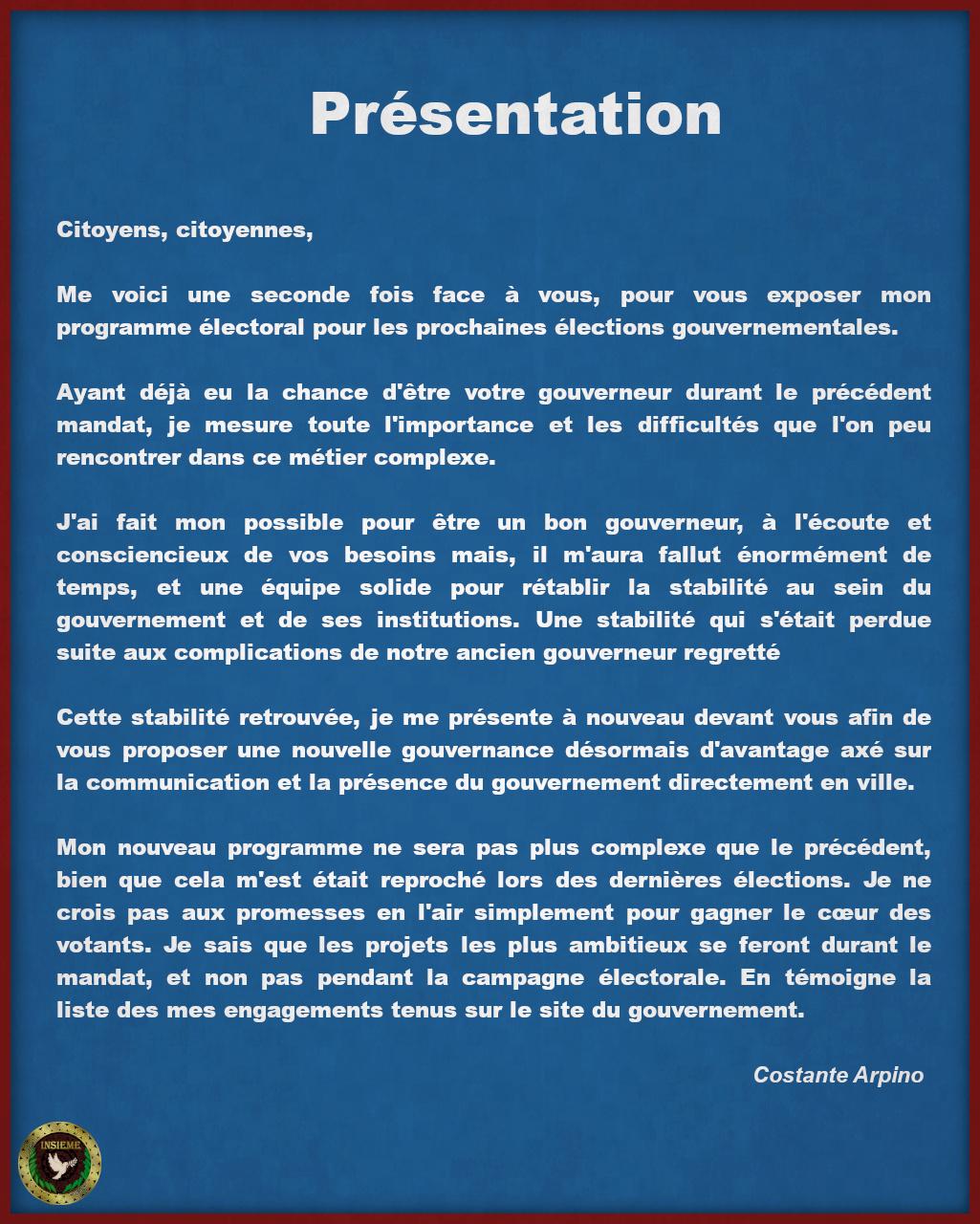 Programme Électoral - Costante Arpino Page211