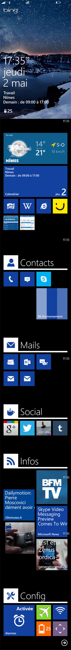 [DISCUSSION] Et vous comment avez vous personnalisez votre Windows Phone - Page 2 Ecranw10