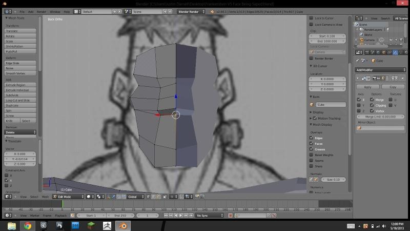 Belial's 3D progress Face10