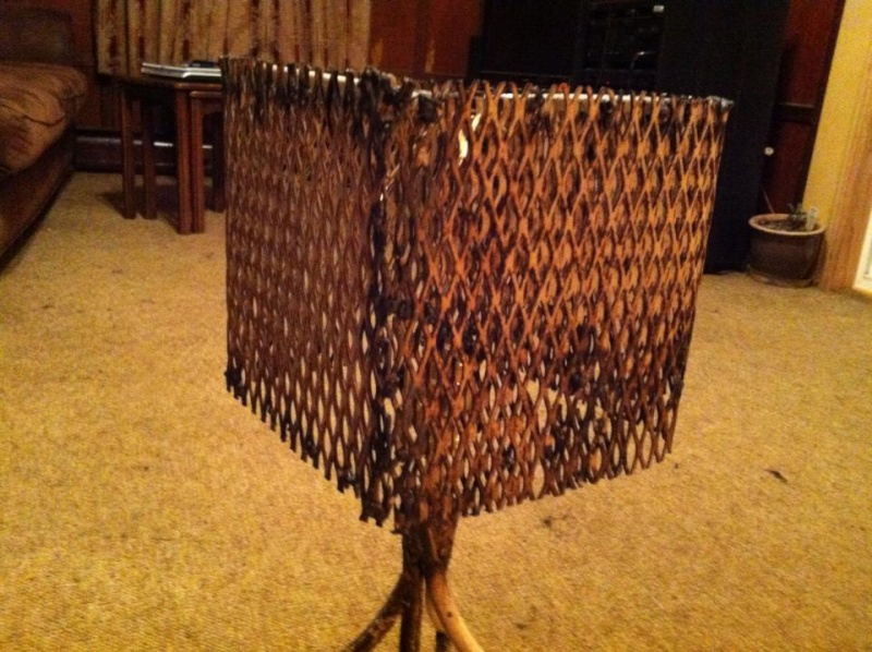 Custom lamp made from a chair.  Image_23