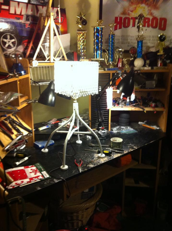 Custom lamp made from a chair.  Image_27
