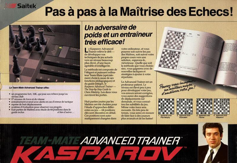 Saitek Kasparov Team-Mate Advanced Trainer  Saitek16