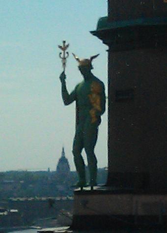Hermes on a roof top Hermes11