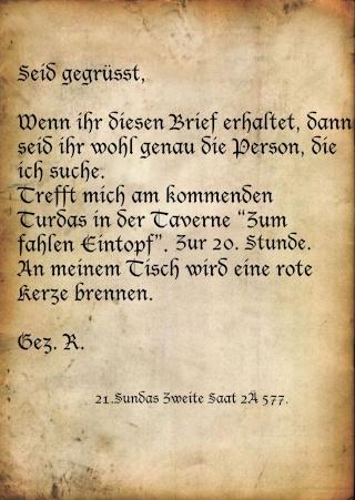 Die Schurkin und der Magier Brief12