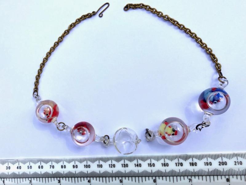 Murano?water filled glass beads Murano10