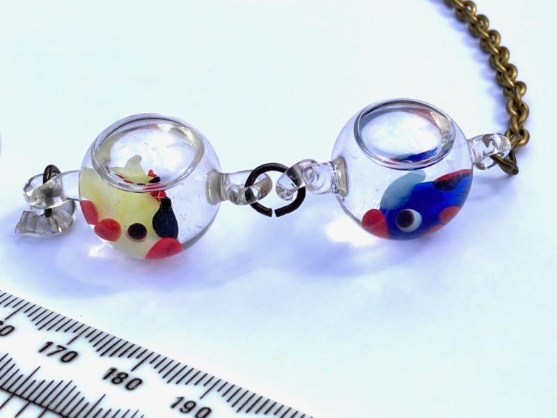 Murano?water filled glass beads Murano11