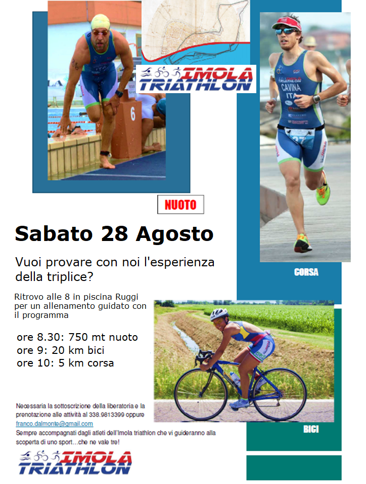 ALLENAMENTO PROMO Triathlon Sprint - Sabato 28 Agosto Promo10