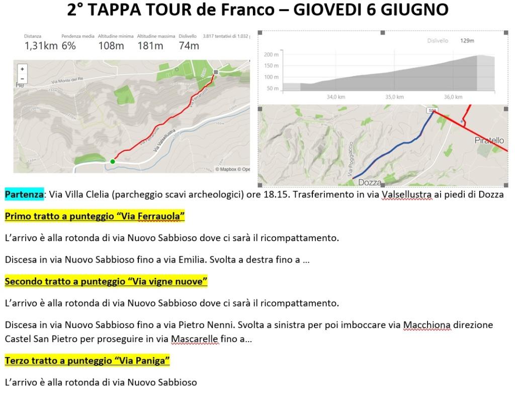 19-8 Tour de Franco 5,6 e 7 Giugno Tourde10