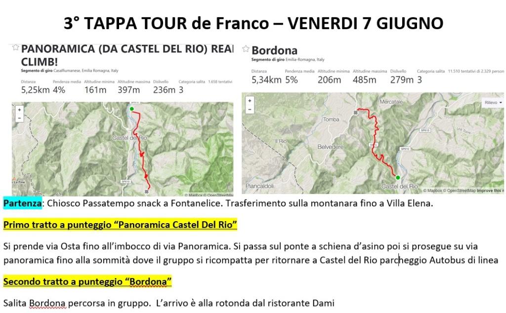 19-8 Tour de Franco 5,6 e 7 Giugno Tourde11