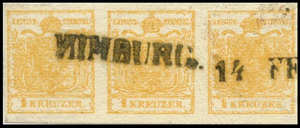 Stempelfehler auf 1. Ausgabe Österreich Ank1-h10