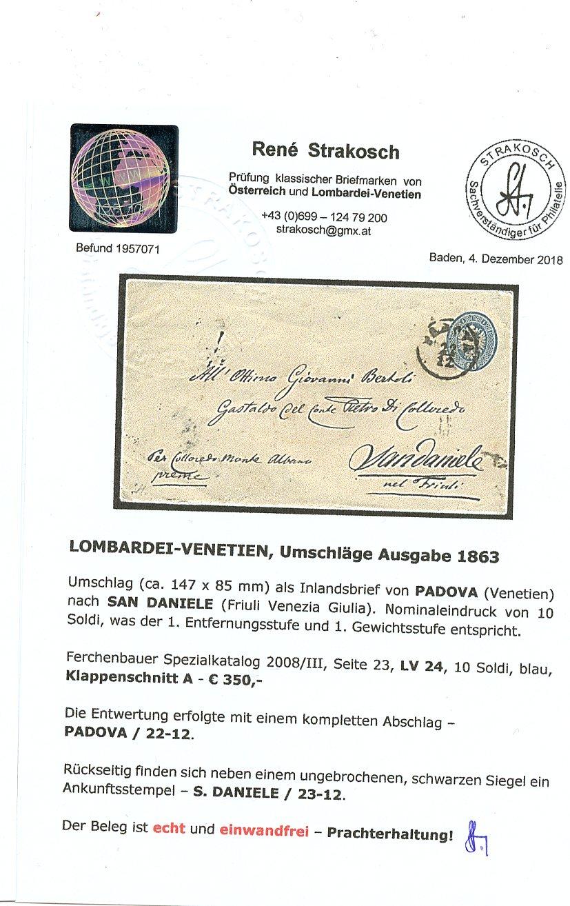 Lombardei-Venetien, Ausgaben 1863 und 1864 Img70810