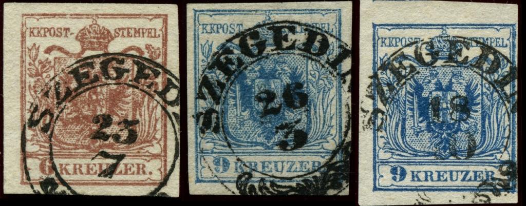 Stempelfehler auf 1. Ausgabe Österreich Szeged10
