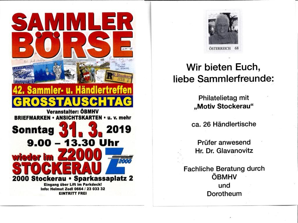 Großtauschtag STOCKERAU 31. MÄRZ 2019 Werbun10