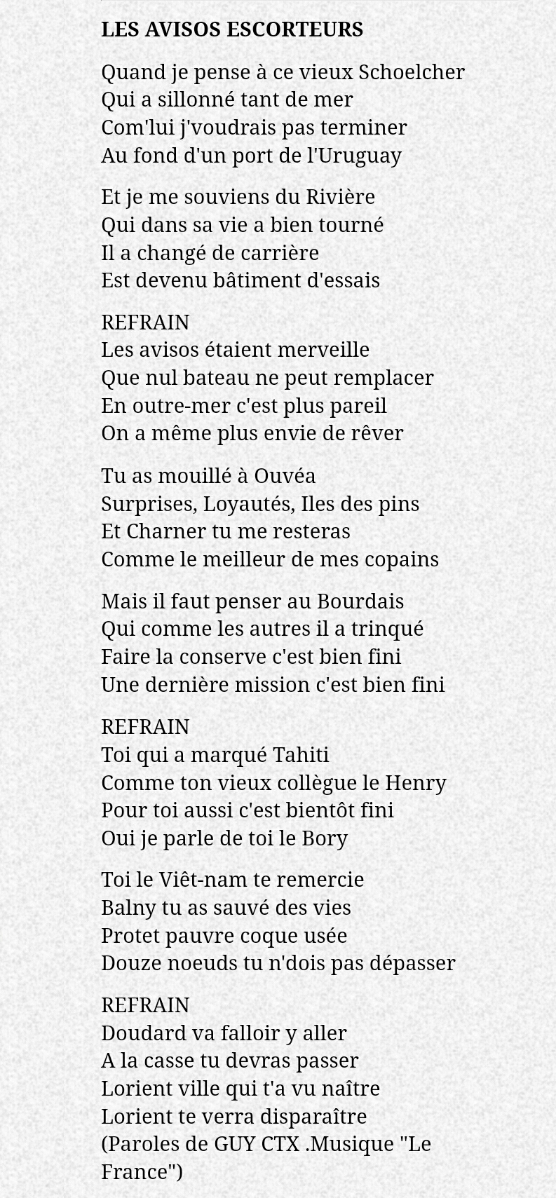 ENSEIGNE DE VAISSEAU HENRY (AE) - Page 8 Chant_10