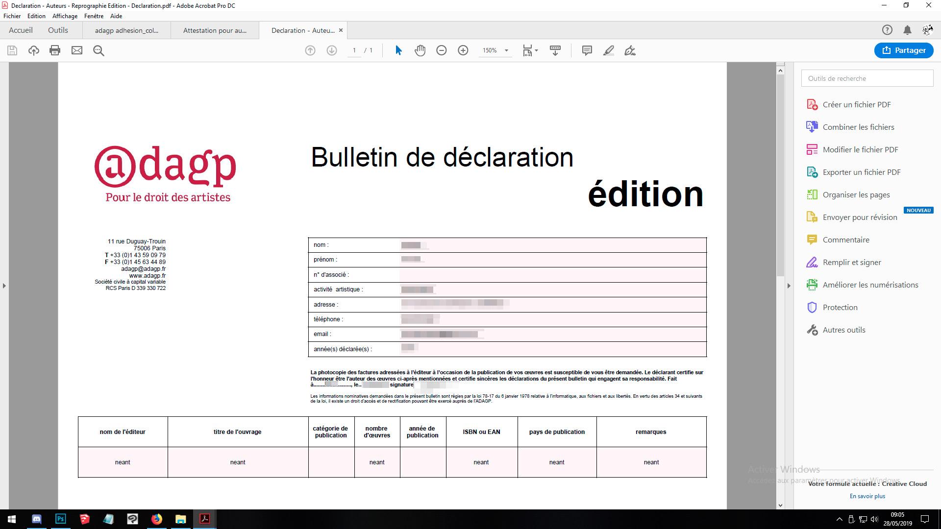 droit d'auteur géré par ADAGP et la SOFIA Editio10