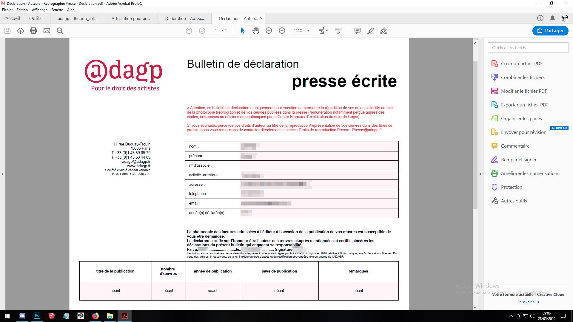 droit d'auteur géré par ADAGP et la SOFIA Presse10
