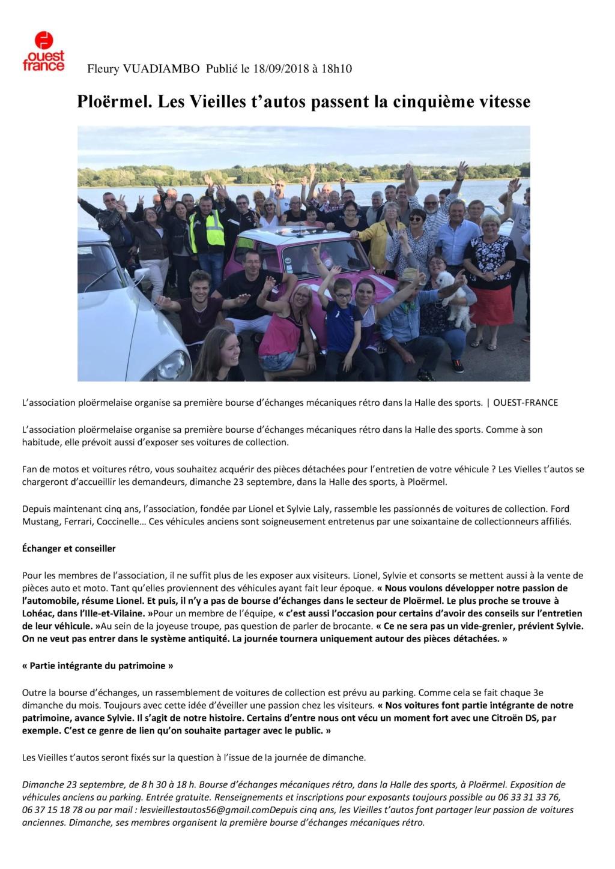 BOURSE D ECHANGE RETRO MECANIQUE DU 23 SEPTEMBRE 2018 OUEST FRANCE  Fleury10