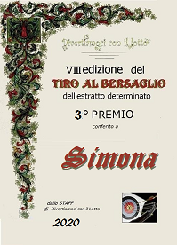 VINCITORI a Tiro Bersaglio 2020 SCHEGGIA,PICO2005,SIMONA Attest12