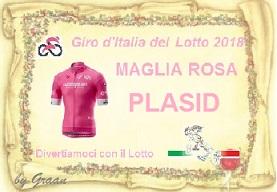 VINCITORI GIRO D'ITALIA DEL LOTTO:PLASID-17//71-QUARTINA-PIERO Pergam17