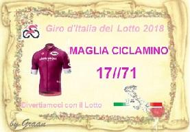 VINCITORI GIRO D'ITALIA DEL LOTTO:PLASID-17//71-QUARTINA-PIERO Pergam21