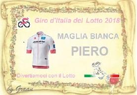 VINCITORI GIRO D'ITALIA DEL LOTTO:PLASID-17//71-QUARTINA-PIERO Pergam23